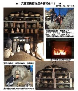 穴窯-窯焚き